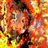 Marbled Fire Abstract. A digitally painted abstract paint design resembling marbled fire stock photo