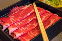 Marbled japanese beef Stock Photos