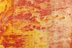 Marbled paper. Paper submerged in water with oil painting Royalty Free Stock Photo
