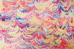 Marbled paper artwork Stock Photo