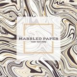 Marbled Paper Background 04. Marbled Paper Background in Brown Gold Colours Royalty Free Stock Images