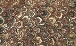 Marbled Paper Brown Stock Photography