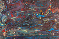 Marbled paper technique Stock Photos