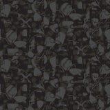 Marbled rock seamless dark gray vector pattern. Royalty Free Stock Photo