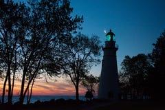 Marblehead灯塔在俄亥俄 图库摄影