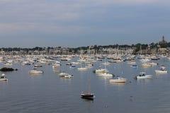Marblehead-Hafen, Massachusetts Ruhiger Morgen 19 Stockfotografie