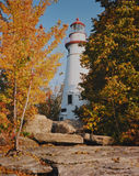 Marblehead-Leuchtturm-Fall stockbild