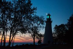 Marblehead Lighthouse in Ohio Stock Photography