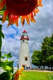 Marblehead Lighthouse, Ohio USA royalty free stock photo