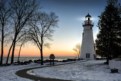 Marblehead Lighthouse Sunrise Stock Photo