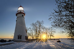 Marblehead Lighthouse Sunrise Stock Images