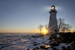 Marblehead Lighthouse Sunrise Stock Photos