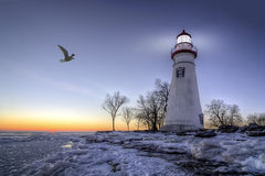 Marblehead Lighthouse Sunrise Royalty Free Stock Image