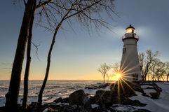 Marblehead Lighthouse Sunrise Royalty Free Stock Photo