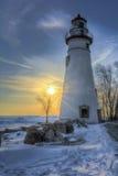 Marblehead Lighthouse Sunrise Stock Image