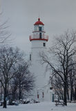 Marblehead Lighthouse Winter Royalty Free Stock Photos