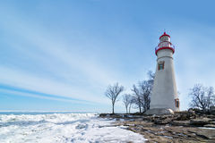 Marblehead Lighthouse Winter Scene Royalty Free Stock Image