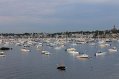 Marbleheadhaven, Massachusetts Vreedzame Ochtend 19 Stock Fotografie