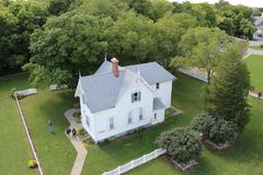 Marblehouse Lighthouse caretaker house view Royalty Free Stock Photos