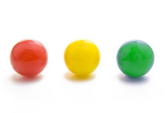 Marbles. Red, yellow, and green marbles Royalty Free Stock Photo