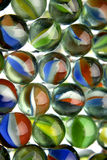 Marbles. Closeup of many glass marbles Stock Image