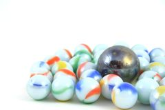 Marbles. On a white background Stock Photography