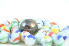Marbles. On a white background Stock Image
