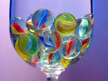 Marbles. In the wine glass Royalty Free Stock Images