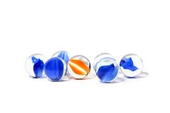 Marbles. Isolated marbles Royalty Free Stock Photo
