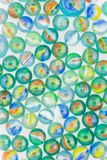 Marbles. Of different colors royalty free stock photo