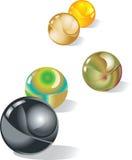 Marbles vector illustration