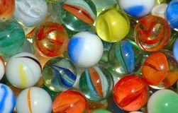 Marbles. Different styles of marbles up close stock image