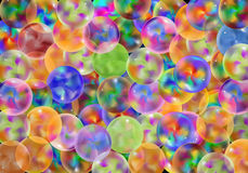Marbles background. Vector Colorful Marbles Background, Eps 10 Vector, Gradient Mesh and Transparency Used Stock Photos