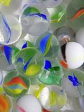 Marbles are very curved with wonderful colors stock image