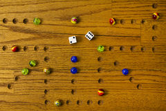 Marbles Board Game Stock Photography