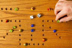 Marbles Board Game Hand Stock Images