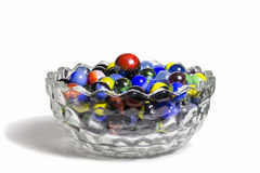 Marbles In Bowl Royalty Free Stock Photo