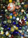 Marbles. A collection of glass marbles Stock Photos