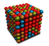 Marbles Cube Royalty Free Stock Photo