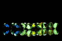 Marbles In The Dark Royalty Free Stock Photos
