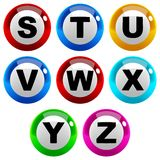 Marbles Font Type Stock Image
