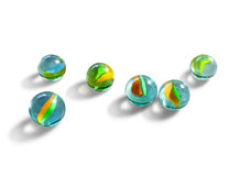 Marbles glass ball Royalty Free Stock Photo