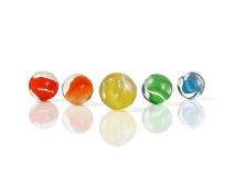 Marbles In Formation Royalty Free Stock Photos
