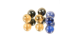 Marbles on Mirror Stock Photography