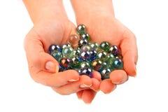 marbles ręka Zdjęcia Royalty Free