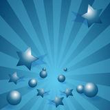 Marbles and Stars Royalty Free Stock Photography