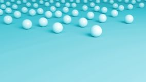 Marbles on Top Blue Background. Water blue background with round marbles on the top of the image Stock Image