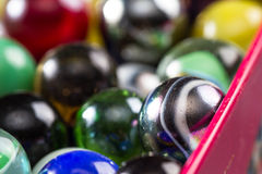 Marbles up close for a background Royalty Free Stock Image