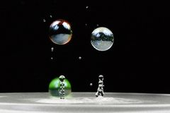Marbles of water Royalty Free Stock Photography