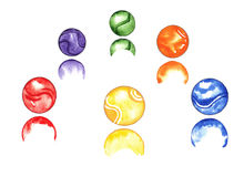 Marbles Watercolor Stock Images